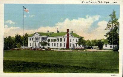 Elyria Country Club - Ohio OH Postcard