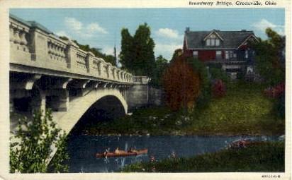Broadway Bridge - Greenville, Ohio OH Postcard