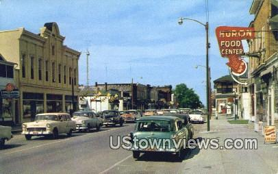 Main Street - Huron, Ohio OH Postcard