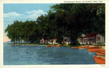 Cottonwood Resort - Indian Lake, Ohio OH Postcard
