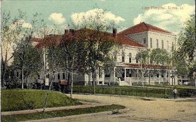 City Hospital - Lima, Ohio OH Postcard