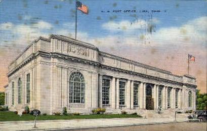 U.S. Post Office - Lima, Ohio OH Postcard