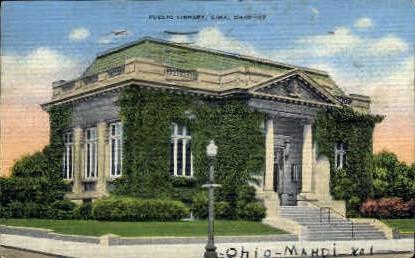 Public Library - Lima, Ohio OH Postcard