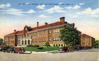 Central High School - Lima, Ohio OH Postcard