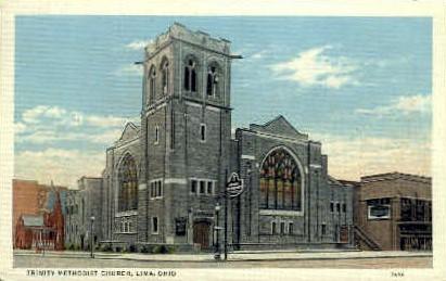 Trinity Methodist Church - Lima, Ohio OH Postcard