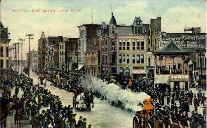General Fire Alarm - Lima, Ohio OH Postcard