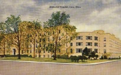 Memorial Hospital - Lima, Ohio OH Postcard