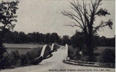 Bridge over Auglaize River - Lima, Ohio OH Postcard
