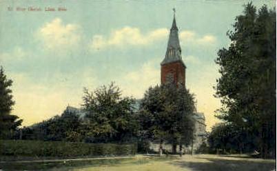 Rose Church - Lima, Ohio OH Postcard