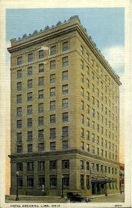 Hotel Argonne - Lima, Ohio OH Postcard