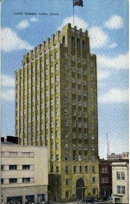Cook Tower - Lima, Ohio OH Postcard