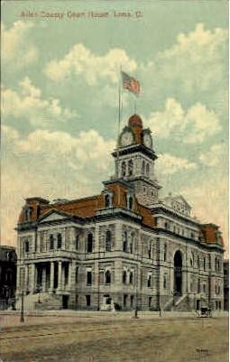 Allen County Court House - Lima, Ohio OH Postcard