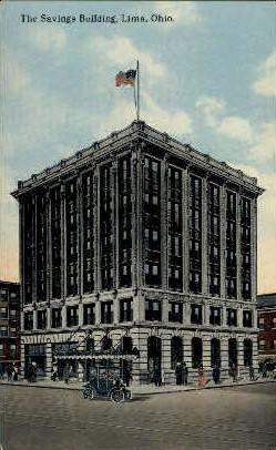 The Savings Building - Lima, Ohio OH Postcard