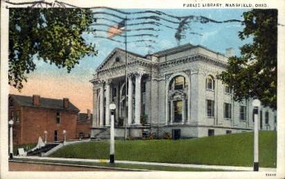 Public Library - Mansfield, Ohio OH Postcard