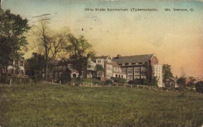 Ohio State Sanitorium - Mt. Vernon Postcard