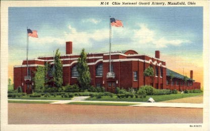 Ohio National Guard Armory - Mansfield Postcard