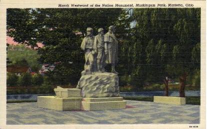 Muskingum Park - Marietta, Ohio OH Postcard