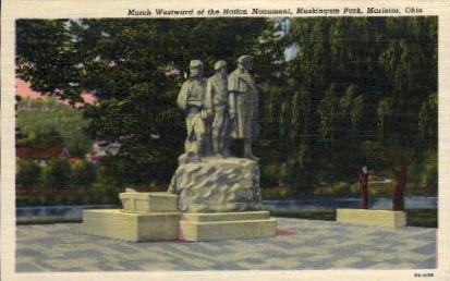 March Westward Nation Monument - Marietta, Ohio OH Postcard