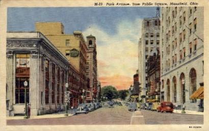 Park Avenue, from Public Square - Mansfield, Ohio OH Postcard