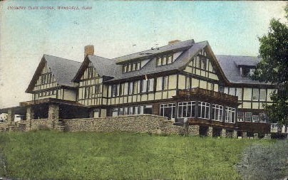 Country Club House - Mansfield, Ohio OH Postcard