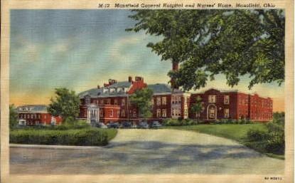 Mansfield General Hospital and Nurses' Home - Ohio OH Postcard
