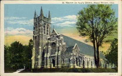 St. Vincent De Paul's Church - Mt. Vernon, Ohio OH Postcard