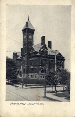 The High School - Mansfield, Ohio OH Postcard