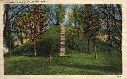 Prehistoric Mound - Marietta, Ohio OH Postcard