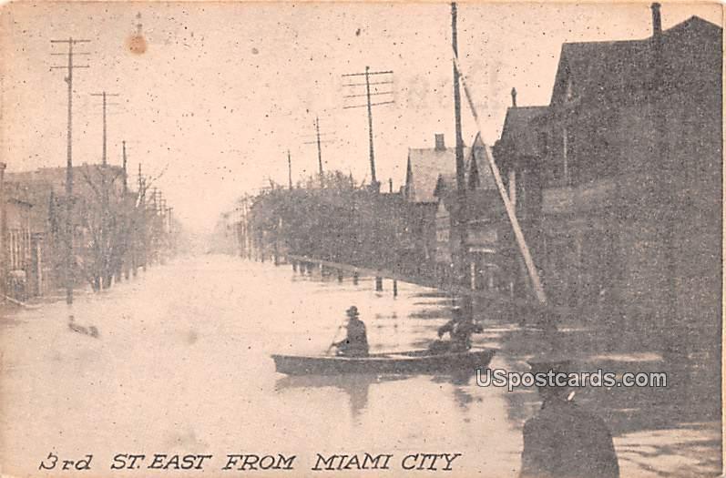 3rd Street East - Miami City, Ohio OH Postcard