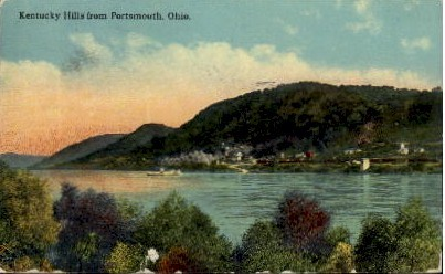 Kentucky Hills - Portsmouth, Ohio OH Postcard