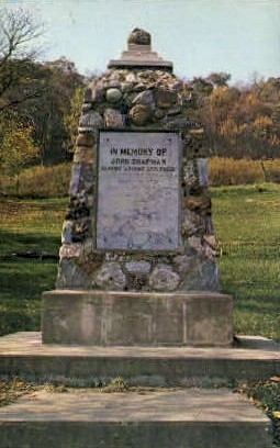 In Memory of John Chapman - Caldwell, Ohio OH Postcard