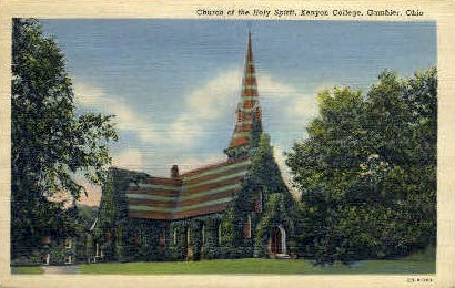 Kenyon College - Gambier, Ohio OH Postcard