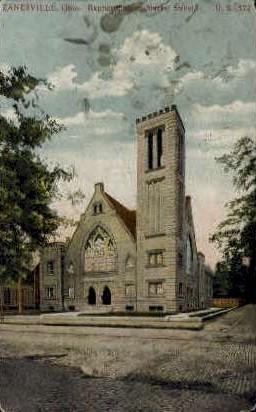 Baptist Church - Zanesville, Ohio OH Postcard