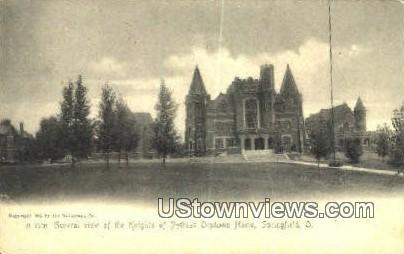 Knights of Pythias Orphans Home - Springfield, Ohio OH Postcard