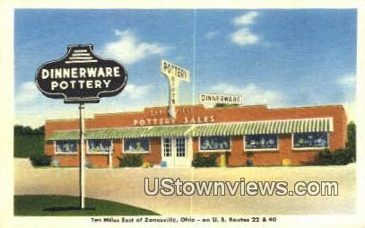 Zanesville Pottery Sales - Ohio OH Postcard