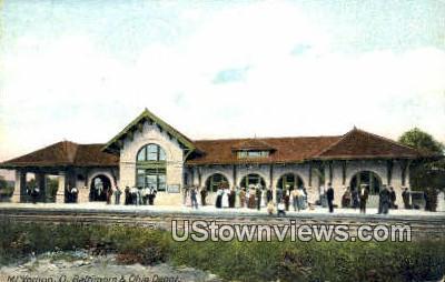 Baltimore & Ohio Depot - Mt. Vernon Postcard