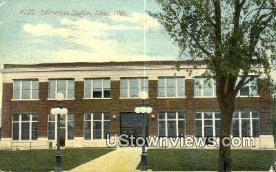 Interurban Station - Lima, Ohio OH Postcard
