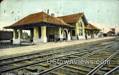 B & O Station - Mt. Vernon, Ohio OH Postcard