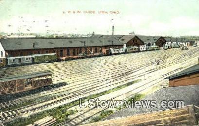 LE & W Yards - Lima, Ohio OH Postcard