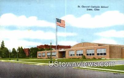St. Gerard Catholic School - Lima, Ohio OH Postcard