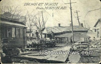 Brown St north - Misc, Ohio OH Postcard
