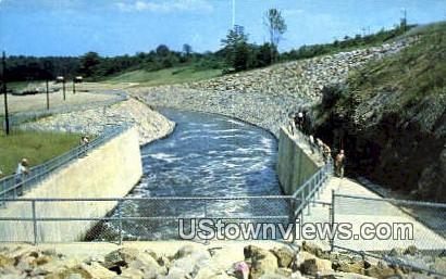 Spillway, Dillon Dam - Zanesville, Ohio OH Postcard