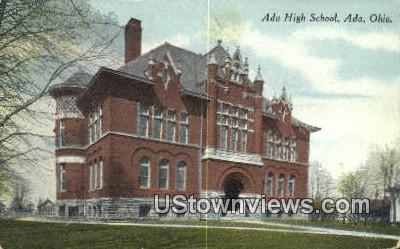 Ada High School - Ohio OH Postcard