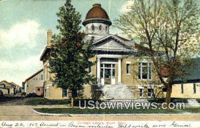 Carnegie Library - Bryan, Ohio OH Postcard
