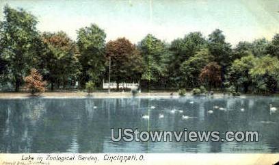 Lake, Zoological Garden - Cincinnati, Ohio OH Postcard