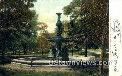 Fountain, McIntyre Park - Zanesville, Ohio OH Postcard