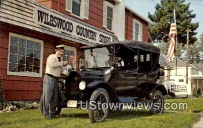 1919 Model T, Wileswood Country Store - Huron, Ohio OH Postcard