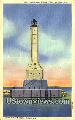 Lighthouse, Lake Erie - Huron, Ohio OH Postcard