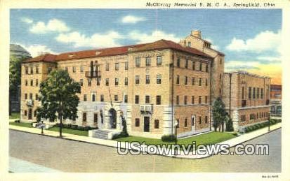 McGilvray Memorial YMCA - Springfield, Ohio OH Postcard