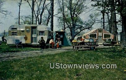 Sleepy Hollows Camping Park - Port Clinton, Ohio OH Postcard